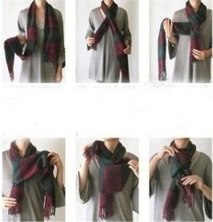 围巾的各种围法和系法图解 四种巧系不重样